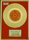 "THE TREMELOES -24 Carat Gold 7"" Disc- SILENCE IS GOLDEN"
